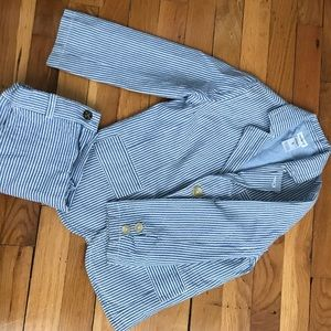 Seersucker Suit Jacket and Shorts